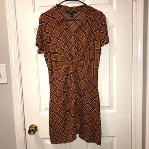 Golden Brown Printed Dress
